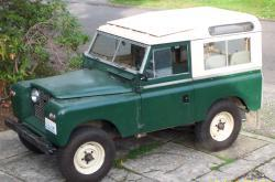 1962 land rover, in meadow south of Mt. Hood, Oregon