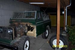 1962 land rover, bulkhead rust repairs