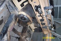 1962 land rover, bulkhead footwell repairs