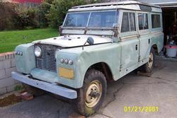 my 1967 NADA 6cyl 109 land rover.  A major overhaul project.