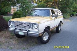 1977 dodge ramcharger, my first car