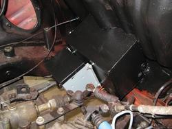 boost transformer installed in engine compartment