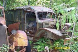 old trucks abandoned at Jawbone Flats townsite