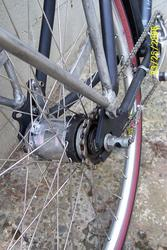 Sturmey Archer S3C hub installed on Redline Monocog