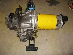 motor and transmission assembly, ready to be installed