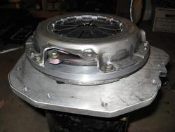 step 6: install pressure plate onto flywheel
