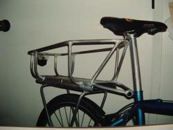 homemade bike rack with intergal basket and electronics bay
